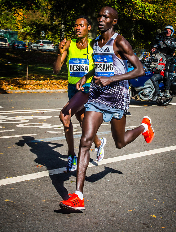 The New York City Marathon has grown from a Central Park race with 55 finishers to the world's biggest and most popular marathon Marathon distance  <br /> 42.195 kilometres <br /> (26 miles and 385 yards)   The race has three divisions, Handicap, Mens &amp; Womens.WINNERS:<br /> <br /> MEN<br /> <br /> 1st Wilson Kipsang 2:10:59   Kenya <br /> <br /> 2nd Lelisa Desisa Benti 2:11:06   Ethiopia <br /> <br /> <br /> WOMEN<br /> <br /> 1st Mary Keitany 2:25:07 Kenya<br /> <br />  2nd Jemima Sumgong 2:25:10   Kenya