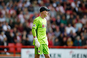 Dean Henderson of Sheffield United during the Premier League match between Sheffield United and Crystal Palace at Bramall Lane, Sheffield, England on 18 August 2019.