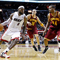 24 January 2012:  during the Miami Heat 92-85 victory over the Cleveland Cavaliers at the AmericanAirlines Arena, Miami, Florida, USA.