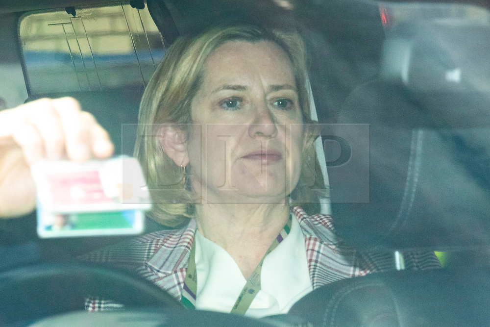 © Licensed to London News Pictures. 23/05/2019. London, UK. Secretary of State for Work and Pensions Amber Rudd is seen arriving at Parliament by car. Photo credit: Rob Pinney/LNP