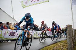 Alba Teruel crests the VAMberg at Ronde van Drenthe 2018 - a 157.2 km road race on March 11, 2018, from Emmen to Hoogeveen, Netherlands. (Photo by Sean Robinson/Velofocus.com)