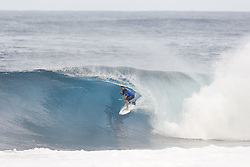December 8, 2017 - Oahu, Hawaii, U.S. - - Dusty Payne of Hawaii advances to the Quarter Finals of the Pipe Invitational after winning Round One of Heat 2 at Pipe, Oahu. (Credit Image: © WSL via ZUMA Wire/ZUMAPRESS.com)