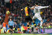 Cristiano fights for aerial ball