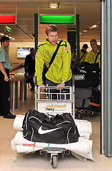 11.01.2010, Flughafen, Bremen, GER, Ankunft Werder Bremen Trainingslager Belek Türkei / Tuerkei 2011, im Bild Per Mertesacker (Bremen #29)   EXPA Pictures © 2011, PhotoCredit: EXPA/ nph/  Frisch       ****** out of GER / SWE / CRO ******