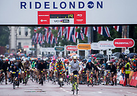 Unai Alvarez Mosquera of Spain and Team Brompton Junction Barcelona starts in the Brompton World Championship Final at Prudential RideLondon 29/07/2017<br />
