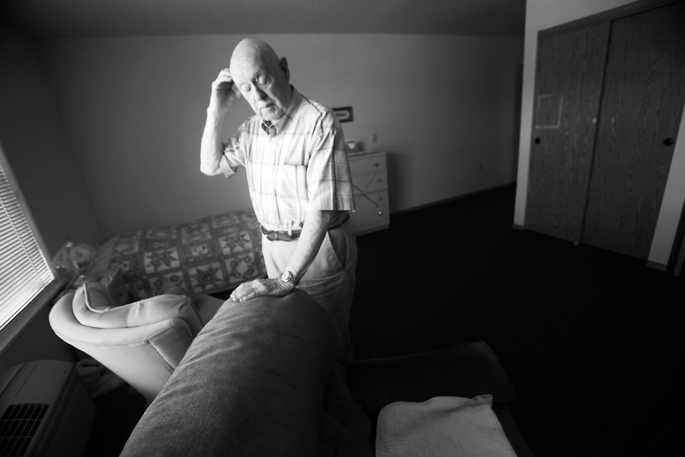 Ivan visits the room of his late wife, Dot, at the retirement home.
