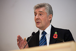 © Licensed to London News Pictures . 06/11/2012 . Manchester , UK . Labour candidate Tony Lloyd . Manchester Police and Crime Commissioner debate this evening (6th November 2012) , at the Roscoe Building , the University of Manchester . Elections for 41 local Police and Crime Commissioners take place across the UK on 15th November 2012 . Photo credit : Joel Goodman/LNP
