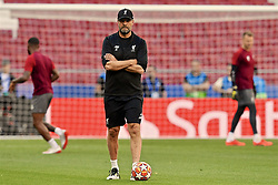 MADRID, SPAIN - Friday, May 31, 2019: Liverpool's manager Jürgen Klopp during a training session ahead of the UEFA Champions League Final match between Tottenham Hotspur FC and Liverpool FC at the Estadio Metropolitano. (Pic by Handout/UEFA)