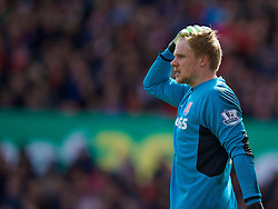 STOKE-ON-TRENT, ENGLAND - Saturday, April 30, 2016: Stoke City's goalkeeper Jakob Haugaard during the FA Premier League match against Sunderland at the Britannia Stadium. (Pic by David Rawcliffe/Propaganda)