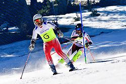 DELEPLACE Hyacinthe, Guide: JOURDAN Maxime, B2, FRA, Slalom at the WPAS_2019 Alpine Skiing World Cup, La Molina, Spain