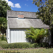 The Wyllie Cottage, built in 1872 and now the oldest house still standing in Gisborne, on dsiplay next to The Tairawhiti Museum Stout Street. Gisborne, New Zealand,, 15th January 2011 Photo Tim Clayton.