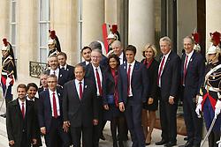 September 15, 2017 - Paris, France, France - Tony Estanguet - Anne Hidalgo - Valerie Pecresse - Guy Drut - Bernard Lapasset - Thierry Rey - Najat Vallaud Belkacem - Denis Masseglia (Credit Image: © Panoramic via ZUMA Press)