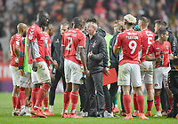 Football - 2018 / 2019 EFL Sky Bet League One - Play-Off Semi-Final, Second Leg: Charlton Athletic (2) vs. Doncaster Rovers (1)<br /> <br /> Charlton Athletic manager Lee Bowyer prepares his team for extra time, at The Valley.<br /> <br /> COLORSPORT/ASHLEY WESTERN