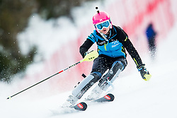 "Forerunner Pika Dvornik in action during 1st Run of the FIS Alpine Ski World Cup 2017/18 7th Ladies' Slalom race named ""Golden Fox 2018"", on January 7, 2018 in Podkoren, Kranjska Gora, Slovenia. Photo by Ziga Zupan / Sportida"