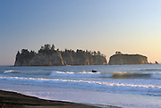 Sunset, Rialto Beach, Pacific Ocean, Ocean, La Push, Washington