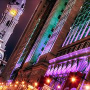 Looking up Broad Street toward City Hall in Center City Philadelphia.