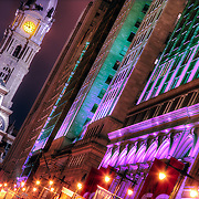 Looking up Broad Street toward City Hall in Center City Philadelphia.