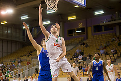 Milos Pesic of KK Sentjur and Igor Tratnik of KK Petrol Olimpija Ljubljana during basketball match between KK Petrol Olimpija and KK Sentjur in Playoffs of Liga Nova KBM 2017/18, on April 18, 2018 in Tivoli sports hall, Ljubljana, Slovenia. Photo by Urban Urbanc / Sportida