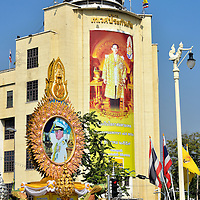 Royal Monument on Ratchadamnoen Klang in Bangkok, Thailand <br />
