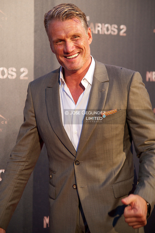 Swedish Actor Dolph Lundgren attends 'The Expendables 2' premiere at Callao Cinema in Madrid