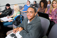 Students Sitting in Lecture Hall