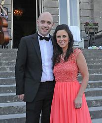 Ruairi Hallinan and Stephanie Colombani enjoying the Westport Food Festival Mid Summer Banquet at Westport House.<br />Pic Conor McKeown