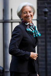 © licensed to London News Pictures. London, UK 04/02/2014. The International Monetary Fund (IMF) Managing Director Christine Lagarde leaving Number 11 in Downing Street after meeting Chancellor of the Exchequer George Osborne on Tuesday, 04 February 2014. Photo credit: Tolga Akmen/LNP