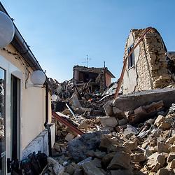 Case distrutte a Torrita. Sisma 2016