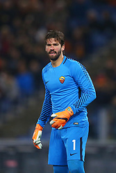 February 11, 2018 - Rome, Italy - Alisson Becker of Roma during the serie A match between AS Roma and Benevento Calcio at Stadio Olimpico on February 11, 2018 in Rome, Italy. (Credit Image: © Matteo Ciambelli/NurPhoto via ZUMA Press)