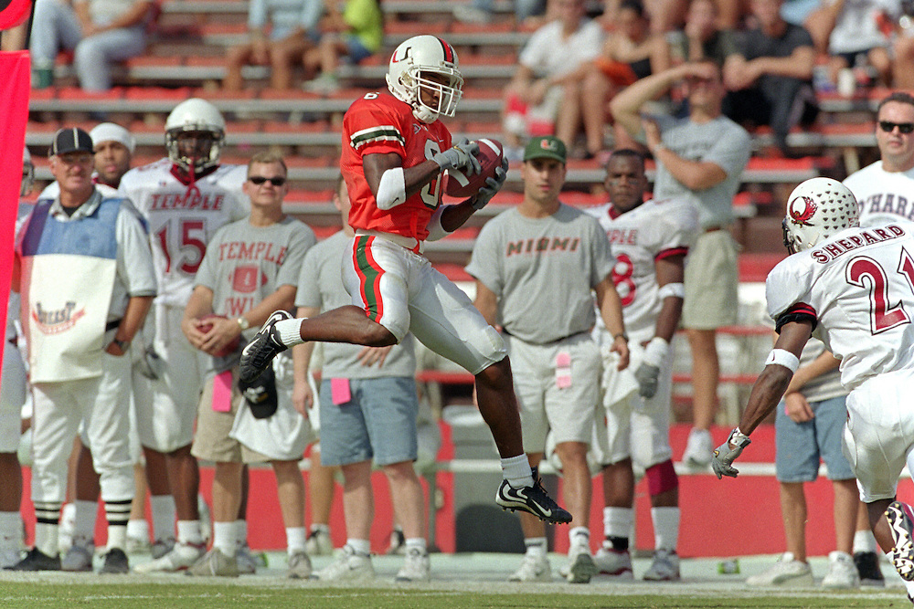 1999 Miami Hurricanes Football vs Temple<br /> <br /> Caneshooter Archive Scans