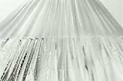 close up of wet plastic tarp