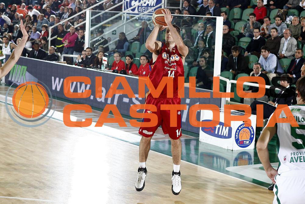 DESCRIZIONE : Avellino Lega A 2008-09 Air Avellino Lottomatica Virtus Roma<br /> GIOCATORE : Rodrigo De La Fuente<br /> SQUADRA : Lottomatica Virtus Roma<br /> EVENTO : Campionato Lega A 2008-2009 <br /> GARA : Air Avellino Lottomatica Virtus Roma<br /> DATA : 07/05/2009<br /> CATEGORIA : tiro<br /> SPORT : Pallacanestro <br /> AUTORE : Agenzia Ciamillo-Castoria/E.Castoria