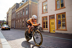 Lizzie Deignan at Boels Rental Ladies Tour Prologue a 4.3 km individual time trial in Wageningen, Netherlands on August 29, 2017. (Photo by Sean Robinson/Velofocus)