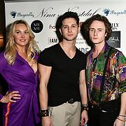 Heather Bird tchenguiz, Oliver smiles and Ben Luke Jones Arrivers at Nina Naustdal catwalk show SS19/20 collection by The London School of Beauty & Make-up at Bagatelle on 26 Feb 2019, London, UK.