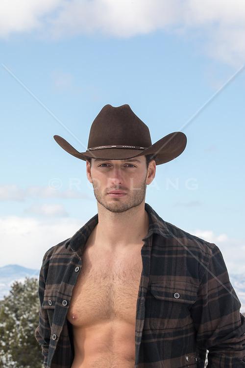 cowboy with an open shirt hot cowboy with an open shirt