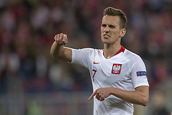 October 14, 2018 - Chorzow, Poland - Arkadiusz Milik of Poland disappointed during the UEFA Nations League A match between Poland and Italy at Silesian Stadium in Chorzow, Poland on October 14, 2018  (Credit Image: © Andrew Surma/NurPhoto via ZUMA Press)