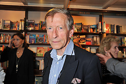 SIR JOHN WESTON at a party to celebrate the publication of Stanley Johnson's new book 'Where The Wild Things Were' held at Daunt Books, 83 Marylebone High Street, <br /> London W1 on 18th July 2012.