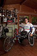 "Padova, Alex Zanardi. Alessandro ""Alex"" Zanardi (Italian pronunciation: [ˈaleks dzaˈnardi]; born 23 October 1966) is an Italian racing driver and paracyclist.<br /> He won two CART championship titles in North America during the late 1990s. He also had a less successful career as a Formula One driver. More recently, he has attracted widespread praise for his return to competition in the aftermath of a crash in 2001 that resulted in the amputation of his legs. He returned to racing less than two years after the accident, competing in the FIA World Touring Car Championship for BMW Team Italy-Spain between 2003 and 2009.<br /> Switching sports, Zanardi took up competition in handbiking, a form of paralympic cycling, with the stated goal of representing Italy at the 2012 Summer Paralympics. In September 2011, Zanardi won his first senior international handbiking medal, the silver medal in the H4 (handbike) category time trial at the UCI World Road Para-Cycling Championships.[1] In September 2012 he won gold medals at the London Paralympics in the individual H4 time trial and the individual H4 road race,[2][3][4] followed by a silver medal in the mixed H1-4 team relay.<br /> On 11 September 2012 he was included by International Paralympic Committee into the London 2012: Top 12 performances list.[5]"