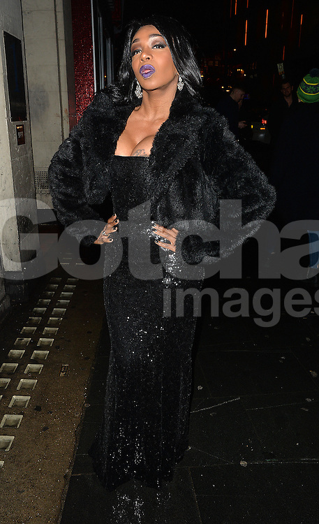 Big Brother star Tiffany Pollard at Cafe De Paris club in London, UK. 06/02/2016<br />BYLINE MUST READ : GOTCHAIMAGES.COM<br /><br />Copyright by &copy; Gotcha Images Ltd. All rights reserved.<br />Usage of this image is conditional upon the acceptance <br />of Gotcha Images Ltd, terms and conditions available at<br />www.gotchaimages.com
