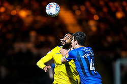 Stefan Payne of Bristol Rovers challenges Jim McNulty of Rochdale - Mandatory by-line: Robbie Stephenson/JMP - 02/10/2018 - FOOTBALL - Crown Oil Arena - Rochdale, England - Rochdale v Bristol Rovers - Sky Bet League One