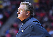 SAN DIEGO, CA - MARCH 18:  West Virginia Mountaineers head coach Bob Huggins looks on during a second round game of the Men's NCAA Basketball Tournament against the Marshall Thundering Herd at Viejas Arena in San Diego, California.  (Photo by Sam Wasson)