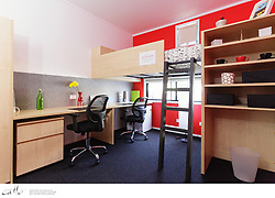 The University of Sydney launched a campaign to trial their new student accommodation display suites on campus.  Visitors are invited to compare five different residence 'pods' and vote on their favourite room design.  Volunteer students would then stay overnight in the room of their choice to experience the layouts in real life.