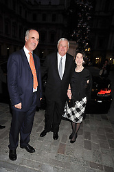 Left to right, CHARLES SAUMAREZ SMITH, the U.S. Ambassador Louis B. Susman and his wife Marjorie attend the private view of Anish Kapoor's latest exhibition at the Royal Academy of Arts, Piccadilly, London on 22nd September 2009
