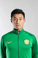 Portrait of Chinese soccer player Zhu Chaoqing of Beijing Sinobo Guoan F.C. for the 2017 Chinese Football Association Super League, in Benahavis, Marbella, Spain, 18 February 2017.