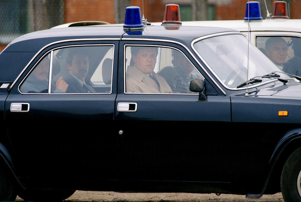Police security in St Petersburg, Russia