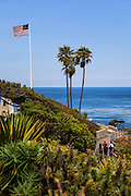 Tourists At The Montage Resort In Laguna Beach