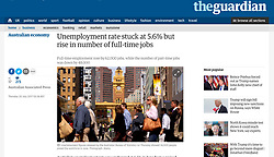 The Guardian; Busy street in Melbourne