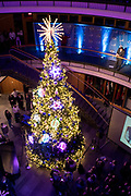 Annual Christmas Tree Lighting in  Hemmingson. (GU photo by Amanda Ford)