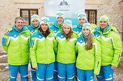 during presentation of Team Slovenia for European Youth Olympic Festival - EYOF Brasov 2013 on February 13, 2013 in Bled, Slovenia. (Photo By Vid Ponikvar / Sportida)