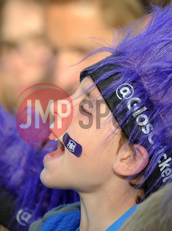 A young Gloucestershire Cricket fan - Photo mandatory by-line: Dougie Allward/JMP - Mobile: 07966 386802 - 19/06/2015 - SPORT - Cricket - Bristol - County Ground - Gloucestershire v Somerset - Natwest T20 Blast